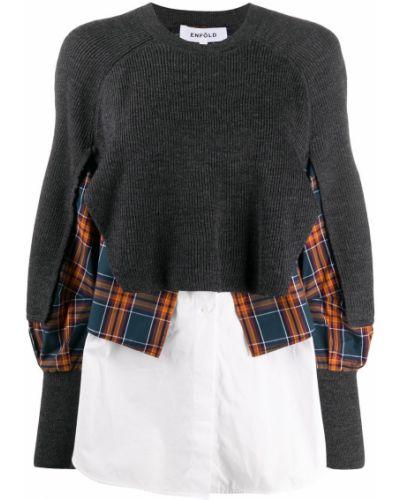 Bawełna bawełna zworki z długimi rękawami Enfold