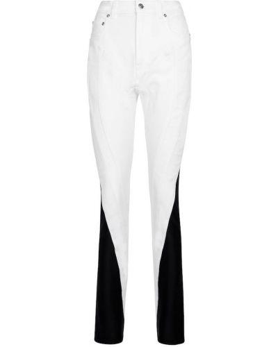 Хлопковые джинсы - белые Mugler