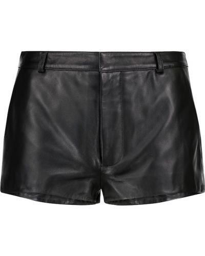 Кожаные черные шорты Dodo Bar Or