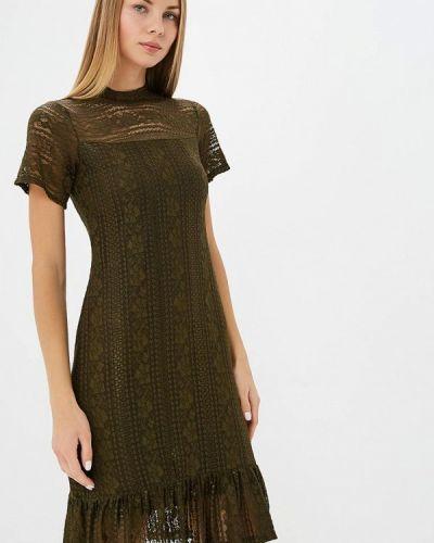 Вечернее платье осеннее хаки Adl