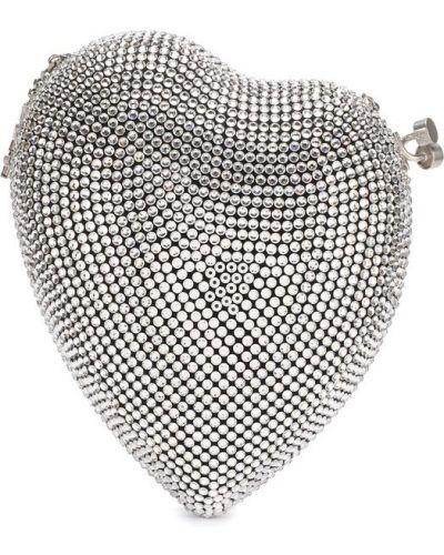 Сумка вечерняя серебряного цвета Saint Laurent