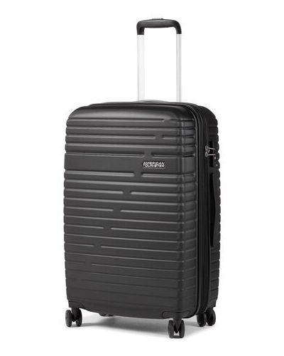 Czarna walizka średnia American Tourister