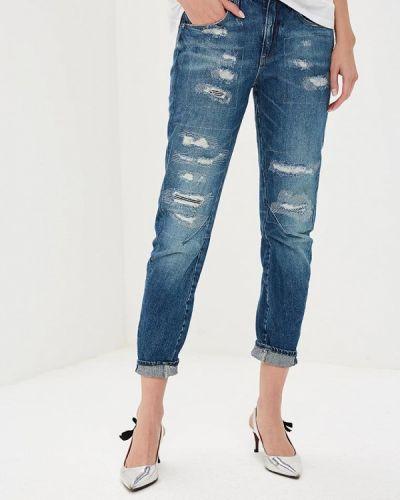 Синие джинсы бойфренды G-star