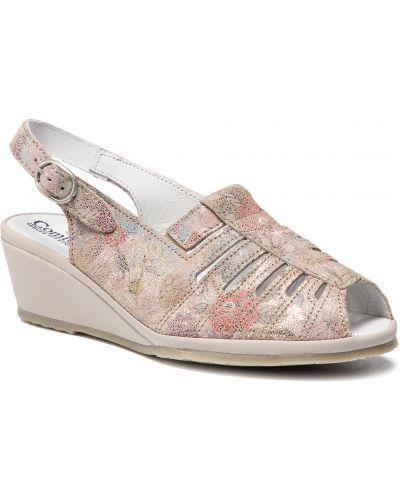 Szare sandały zamszowe Comfortabel