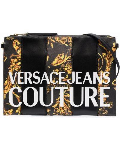 Złota kopertówka - biała Versace Jeans Couture