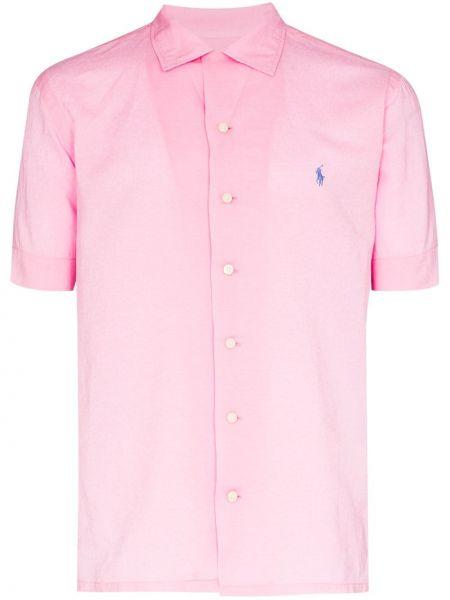 Różowe polo bawełniane Polo Ralph Lauren