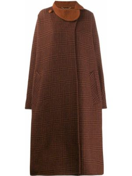 Коричневое свободное шерстяное пальто свободного кроя Pierre Cardin Pre-owned