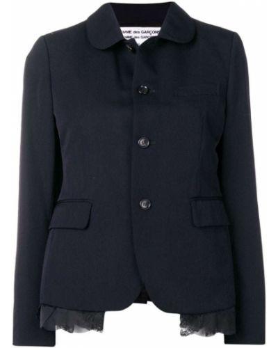 Клубная синяя длинная куртка с манжетами Comme Des Garçons Comme Des Garçons