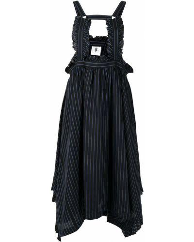 Платье в полоску - синее Comme Des Garçons Noir Kei Ninomiya