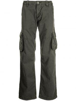 Серые брюки на молнии Alpha Industries