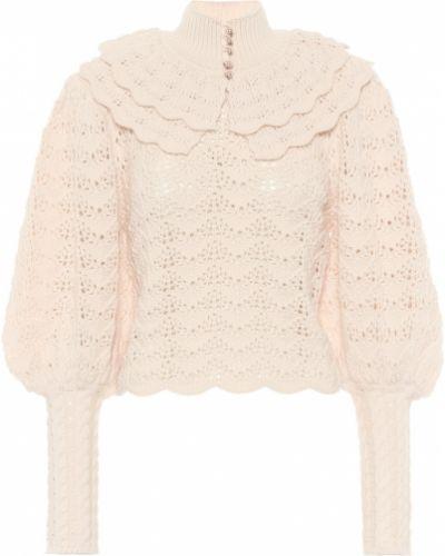 Белый шерстяной свитер Zimmermann
