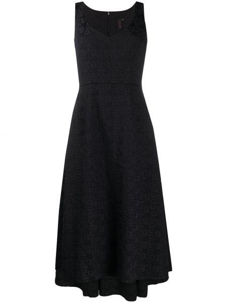 Приталенное платье миди - синее Comme Des Garçons