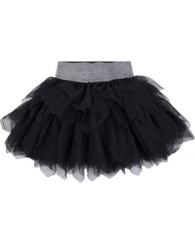 Брендовая текстильная черная юбка Fun Time