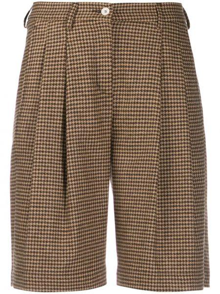 Коричневые шорты с карманами на пуговицах Jejia