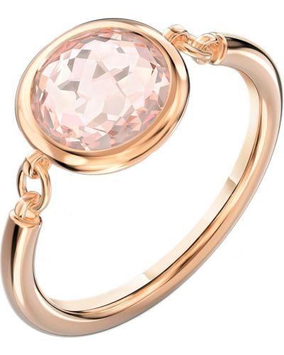 Кольцо золотое с камнями металлическое Swarovski