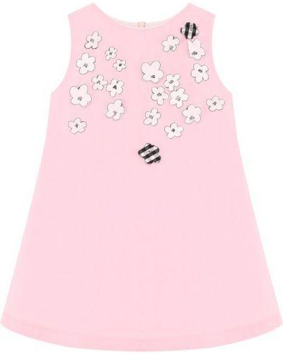 Платье мини розовое на молнии Simonetta