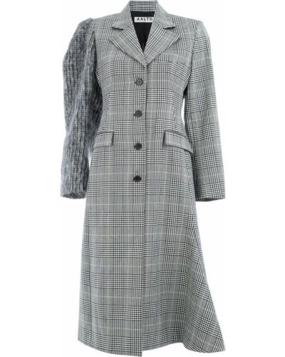 Однобортное черное длинное пальто Aalto