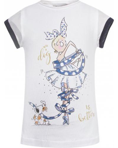 Хлопковая белая футболка Elsy