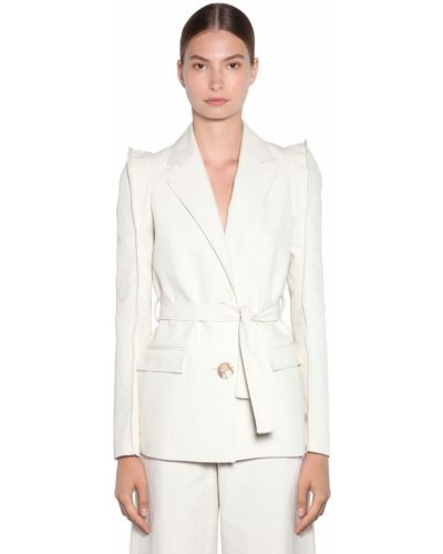Пиджак льняной с поясом Kenzo