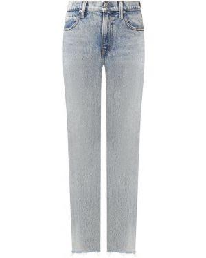 Прямые джинсы mom с эффектом потертости Denim X Alexander Wang