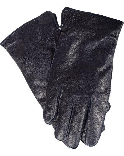 Кожаные перчатки - черные Hugo Boss