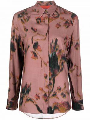 Шелковая рубашка - розовая Paul Smith
