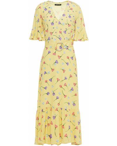 Платье миди с пайетками - желтое Markus Lupfer