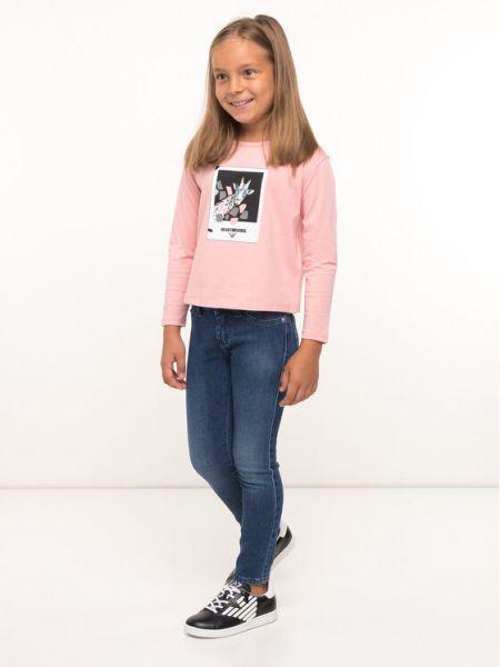 Bluzka - różowa Emporio Armani