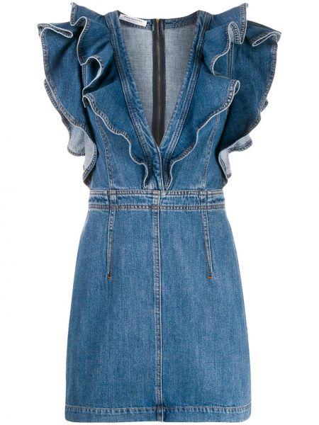 Облегающее синее джинсовое платье без рукавов Philosophy Di Lorenzo Serafini