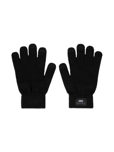 Czarne rękawiczki Edwin