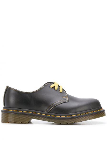 Ажурные черные кожаные туфли с круглым носом на шнуровке Dr Martens
