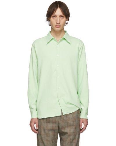 Зеленая классическая рубашка с воротником с длинными рукавами Tibi