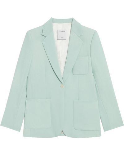 Текстильный однобортный классический пиджак с воротником Sandro
