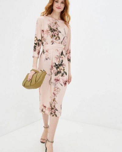 Розовое платье-футляр синар