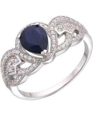 Кольцо из серебра c сапфиром митра ювелир