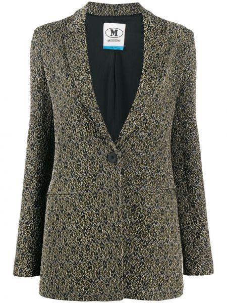 Черный приталенный удлиненный пиджак с карманами M Missoni