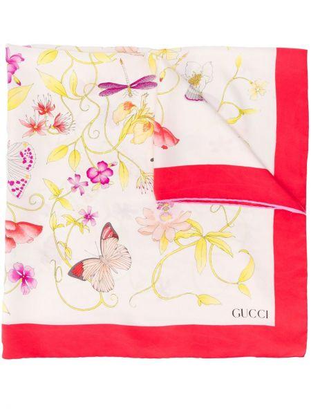 Платок с цветочным принтом Gucci Pre-owned