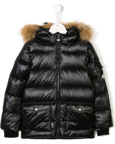 Черное пуховое пальто Pyrenex Kids