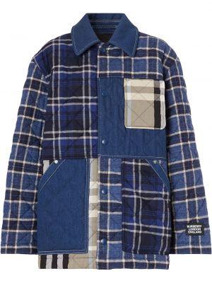 Рубашка в клетку - синяя Burberry