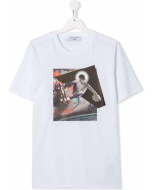 Рубашка белая на шею Neil Barrett Kids