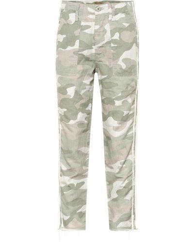 Укороченные брюки карго льняные Mother