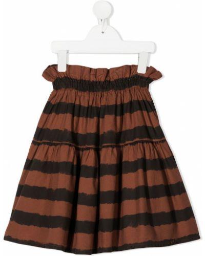 Ватная черная юбка из вискозы с нашивками Buho