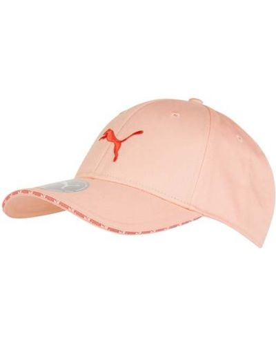 Pomarańczowa czapka z daszkiem bawełniana z paskiem Puma