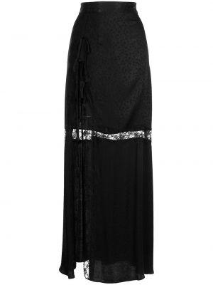 Ажурная с завышенной талией черная юбка Alice Mccall