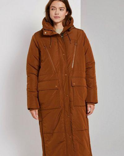 Утепленная коричневая джинсовая куртка Tom Tailor Denim