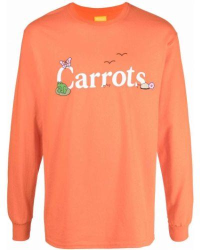 Biała bluza z nadrukiem z printem Carrots
