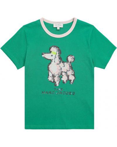 Zielony t-shirt bawełniany The Marc Jacobs