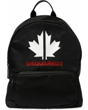 Czarny plecak z nylonu Dsquared2