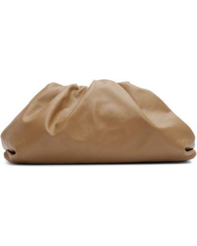 Skórzana torebka włosy wielbłąda wytłoczony Bottega Veneta
