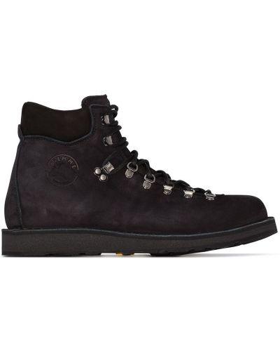 Черные треккинговые ботинки на шнуровке Diemme